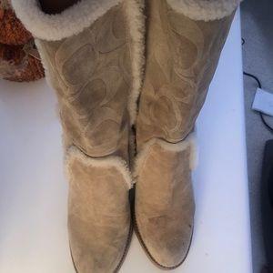 Suede coach boots  cowboy size 9